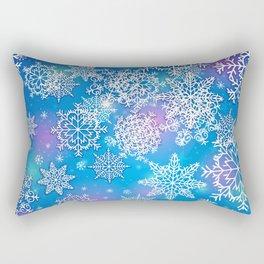 Snowflake background blue purple Rectangular Pillow