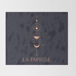 La Papesse or The High Priestess Tarot Throw Blanket