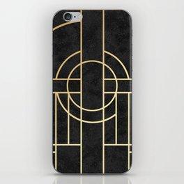 Art Deco Black Marble iPhone Skin