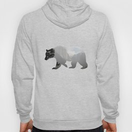 Grizzly Bear with Yosemite Photo Inlay Hoody