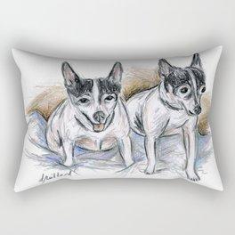 Two Toy Fox Terriers Rectangular Pillow
