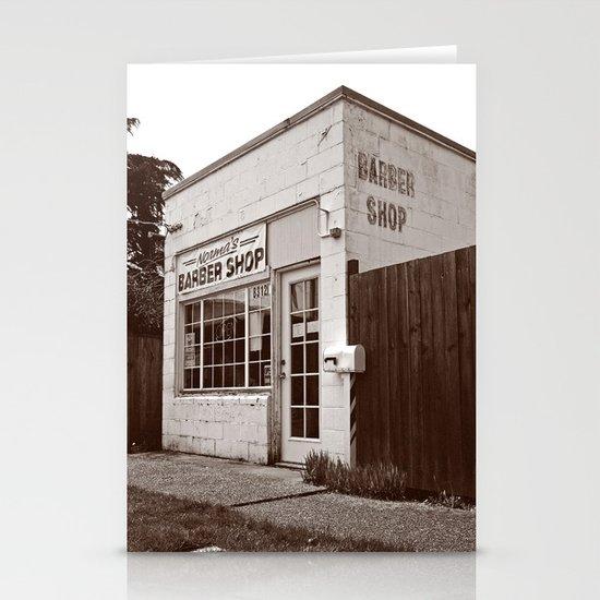 Neighborhood barber shop Stationery Cards