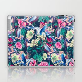 Unicorn and Floral Pattern Laptop & iPad Skin