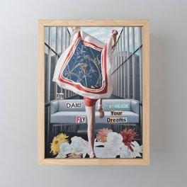 Run Dance Fly Framed Mini Art Print