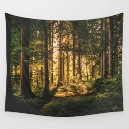 Woods  - Forest, green trees outdoors photography Wall Tapestry