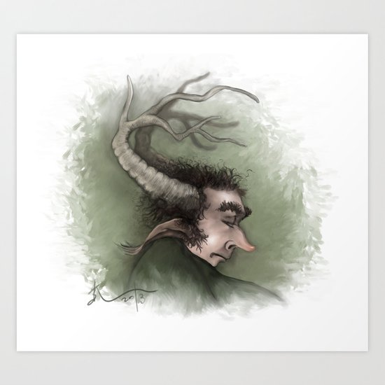 Fairy with Antlers Art Print