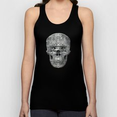 Highly Resolved Ghost (P/D3 Glitch Collage Studies) Unisex Tank Top