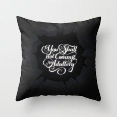 The Seventh Commandment Throw Pillow