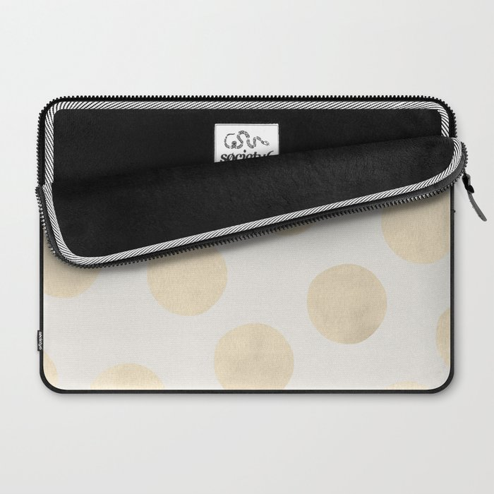 Gold Polka Dots Laptop Sleeve