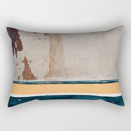 Downtown Textures In Blue And Yellow Paint Rectangular Pillow