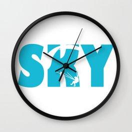 Skydiving Parachuting Wall Clock