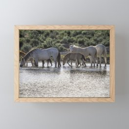 Reaching the Waterhole Framed Mini Art Print