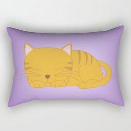 Orange Tabby Kitten Rectangular Pillow