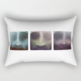 Up close portraits.  Three brothers. Rectangular Pillow