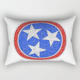 Tennessee Tri Star Mosaic Rectangular Pillow