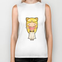 boho Biker Tanks featuring Boho Kitty by Joanna Zhou