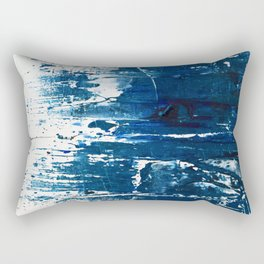 Tranquil: a minimal, abstract piece in blue by Alyssa Hamilton Art Rectangular Pillow