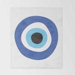 Evi Eye Symbol Throw Blanket
