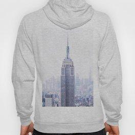 New York City - Manhattan Cityscape - Empire State Building Photograph Hoody