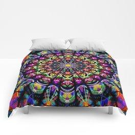 PSYCHEDELIC EARTH MANDALA Comforters