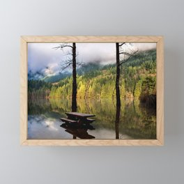 Autumn flood at  Buntzen Lake Framed Mini Art Print