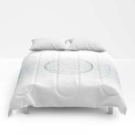 Minimal geometric circle II Comforters
