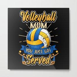 Funny Volleyball Mom Mom Saying Gift Metal Print