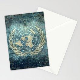 United Nations Flag - Vintage version Stationery Cards