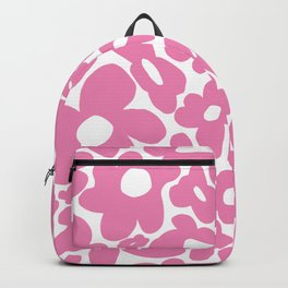 60s 70s Hippy Flowers Pink Backpack