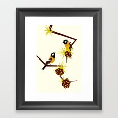 2 great tits Framed Art Print