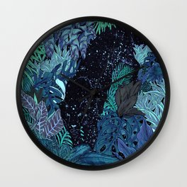 The Jungle at Night Colour Version Wall Clock