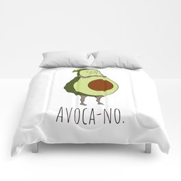 Avoca-no: Grumpy Avocado Comforters