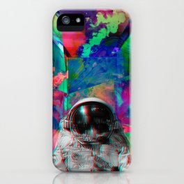Tripping Space Man iPhone Case