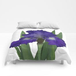 Stellar Lights, Deep blue-violet Iris Comforters