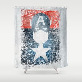 Yankee Captain grunge superhero Shower Curtain
