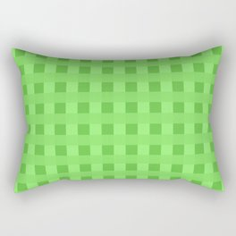 Lime Green Retro Squares Rectangular Pillow