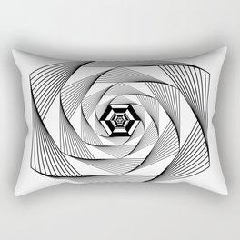 Machine Inside Hexagon Rectangular Pillow