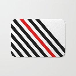 80s stripes Bath Mat