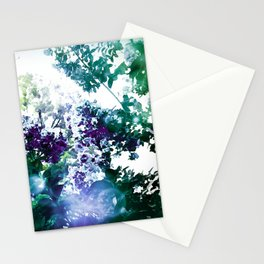 Watercolor Floral Teal Purple Green Stationery Cards