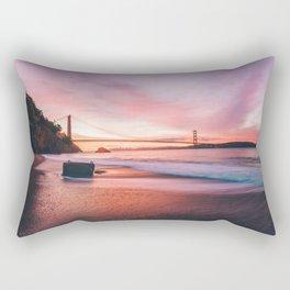 Washed-up Treasure Chest at Kirby Cove - San Francisco, California Rectangular Pillow