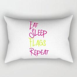 Eat Sleep Flags Fun Vexillologists Quote Rectangular Pillow