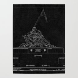 Marines Corps Memorial 2 Poster