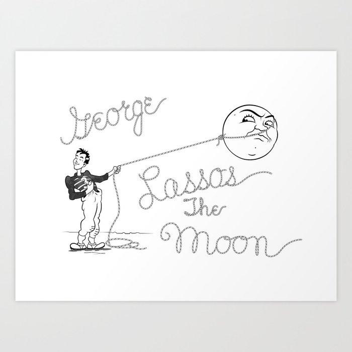 It's a Wonderful Life - George Lassos the Moon Art Print