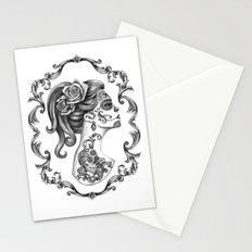 Sugar Skull Girl Cameo Stationery Cards