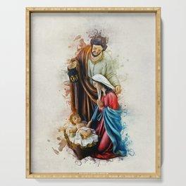 Joseph Mary and Jesus Serving Tray