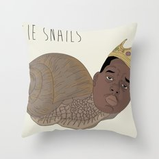 BIGGIE SNAILS Throw Pillow