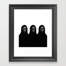 threesome Framed Art Print