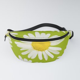 Daisies on a vivid green background - #Society6 #buyart Fanny Pack