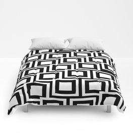 Black and White Squares Pattern 02 Comforters