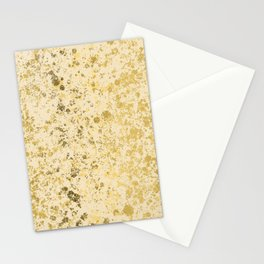 Almond Oil and Gold Patina Design Stationery Cards